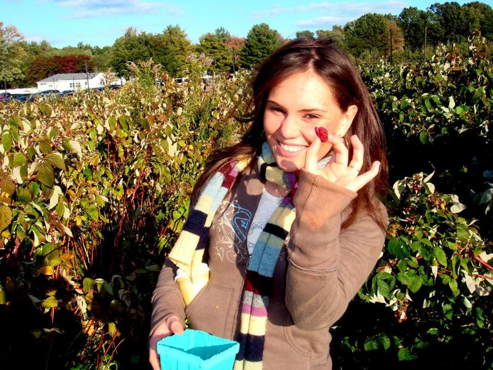 19levis - Laura Levis during a raspberry picking trip to Cider Hill Farm in Amesbury in 2010. (Handout)