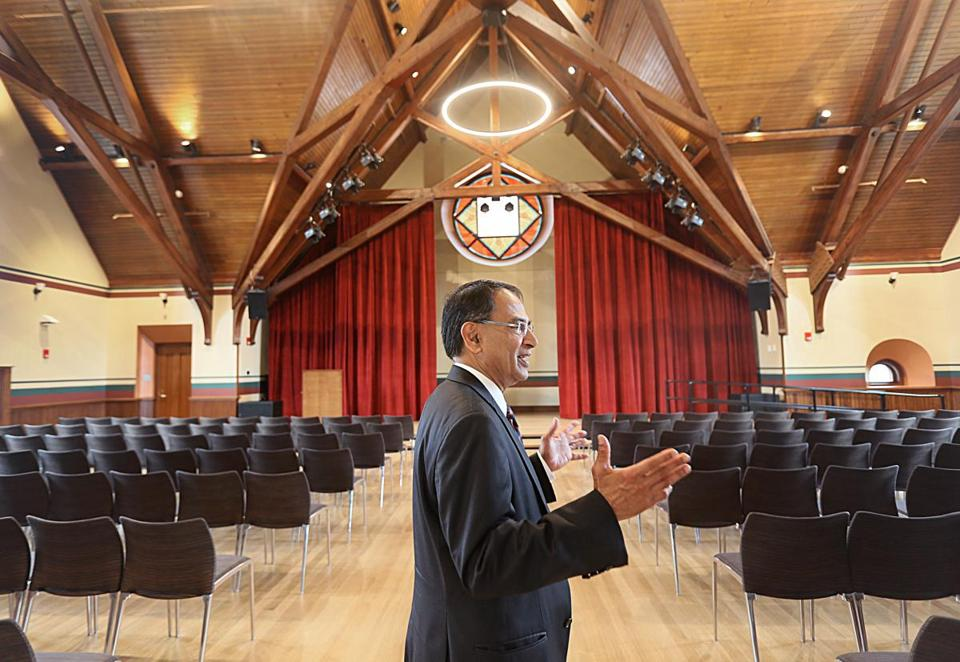 Kumble R. Subbaswamy, chancellor of the University of Massachusetts Amherst, in the second-floor Great Hall.