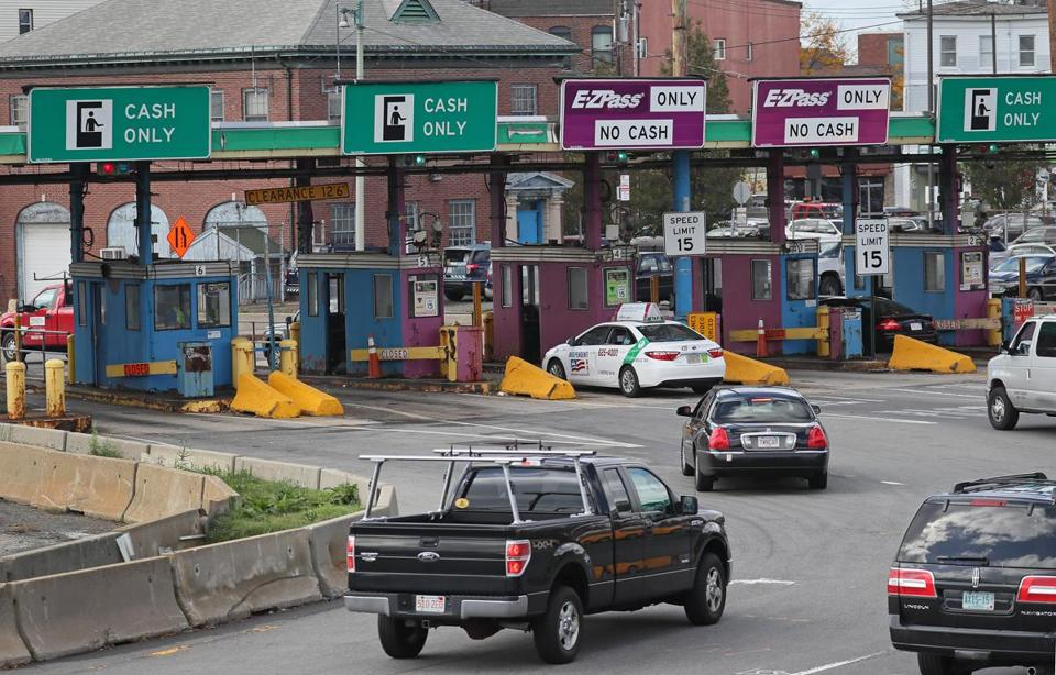 BOSTON, MA - 10/24/2016:MASSACHUSETTS TOLL BOOTHS..... East Boston side of the Sumner Tunnel toll booths.... an archaic and obsolete piece of transportation history. Toll booths and toll takers are being replaced starting Friday Oct 28th with all-electronic tolling (David L Ryan/Globe Staff Photo) SECTION: METRO TOPIC25tolls