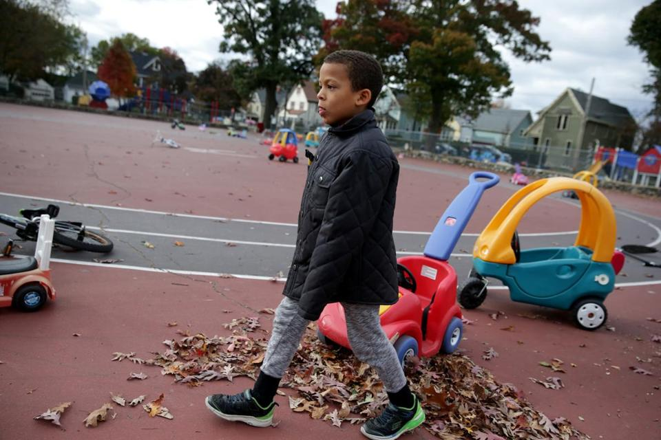 Kiernan Ceide's parents say he is doing better at Forestdale, a public school in Malden, than he did at Mystic Valley charter school.