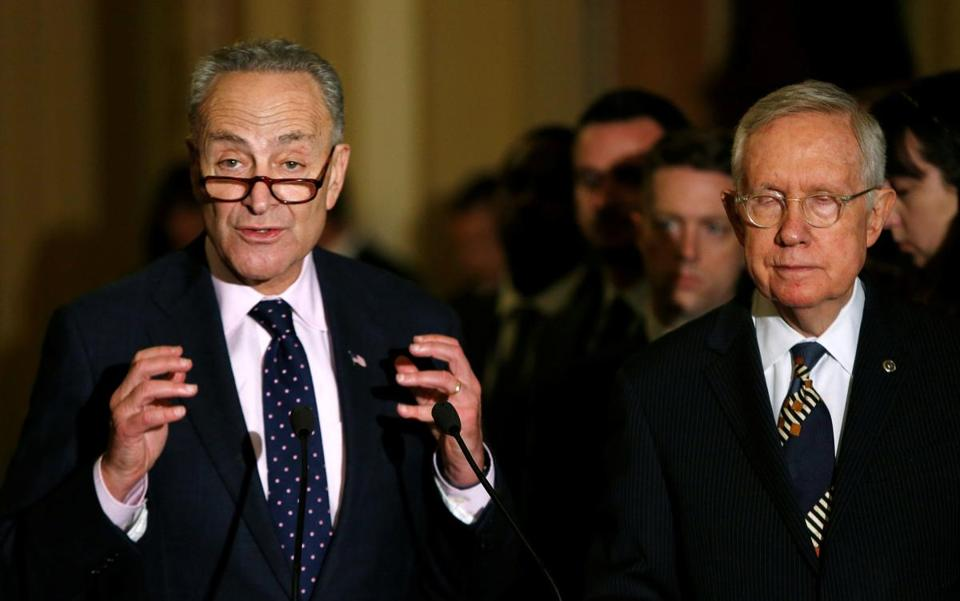 Thornton partners gave $52,000 to US Senator Chuck Schumer (left), Democrat of New York, over a 10-day period in 2013 — 20 times as much as the $2,600 that the partnership itself could have donated.