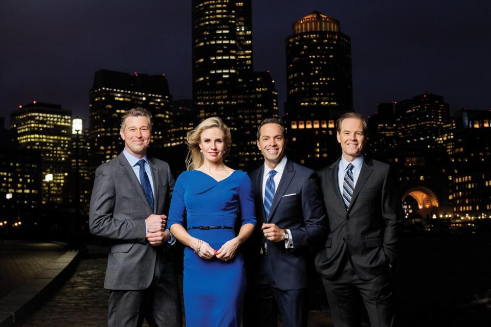 NBC Boston will staff include (from left) Raul Martinez, Shannon Mulaire, Phil Lipof, and Pete Bouchard.
