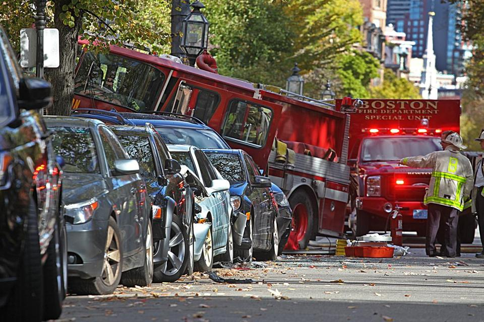 Boston Fire Engine Involved In Crash In Back Bay The