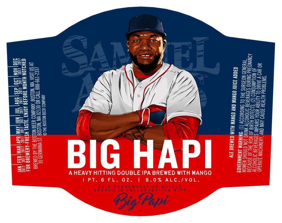 "A mock-up of a bottle for the new ""Big Hapi"" limited release beer."