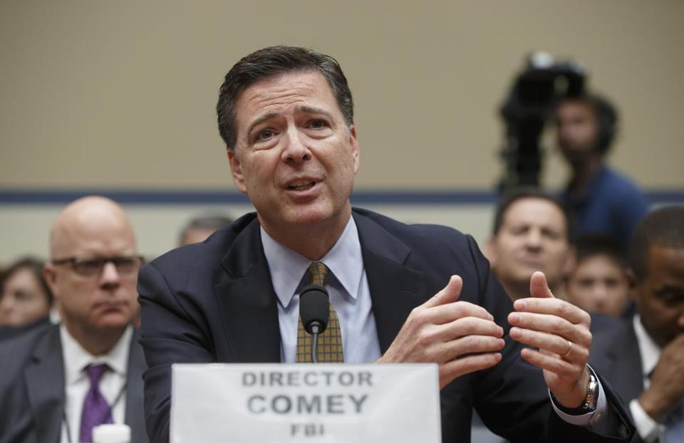 FBI Director James Comey testified on Capitol Hill in July.