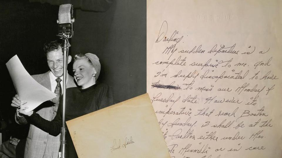 judy garlands love letter to frank sinatra is up for auction