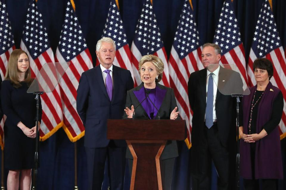 Former Secretary of State Hillary Clinton conceded the presidential election Wednesday morning.