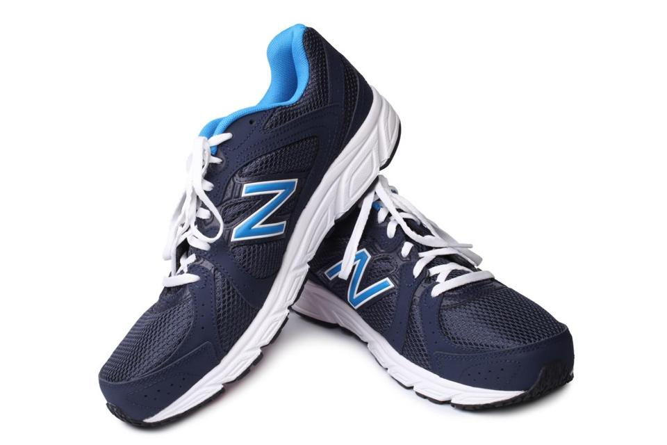 New Balance athletic shoes.