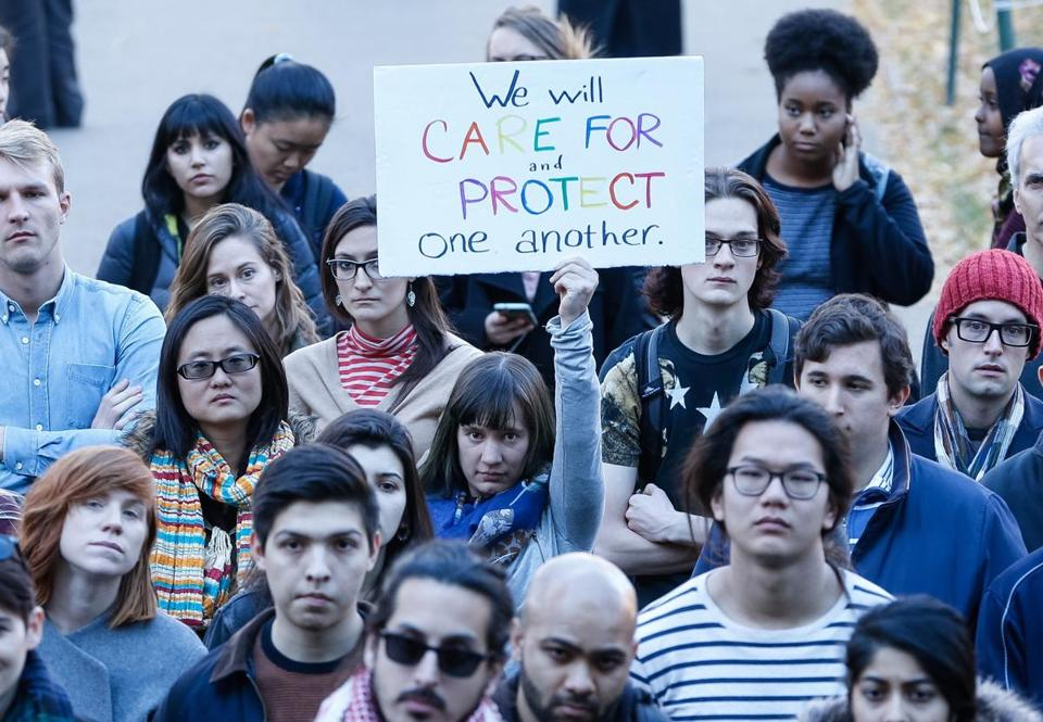 On Harvard's campus last week, people turned out at a rally to show support for undocumented students.