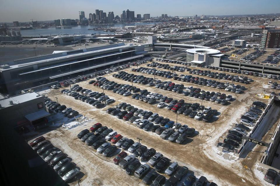 Parking spaces at Logan Airport.