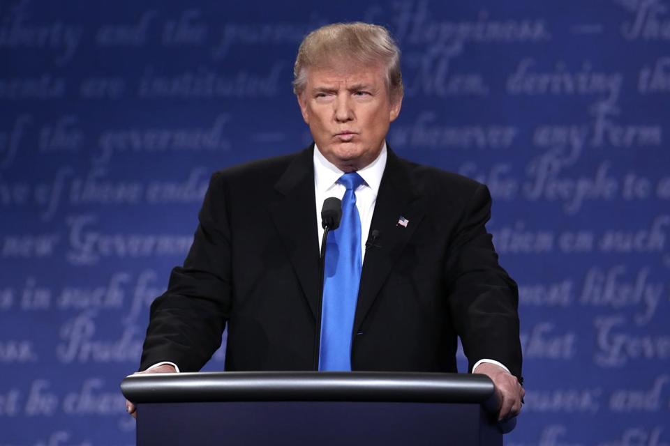 Donald Trump spoke during the Sept. 26 presidential debate.