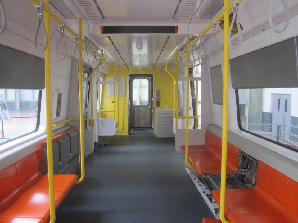 New Orange Line trains