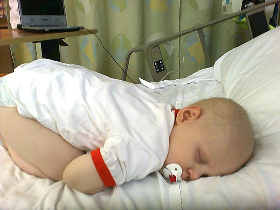 Sleeping again --- Will Lacey sleeping in the hospital. : Taken August 1, 2006. (Lacey family)