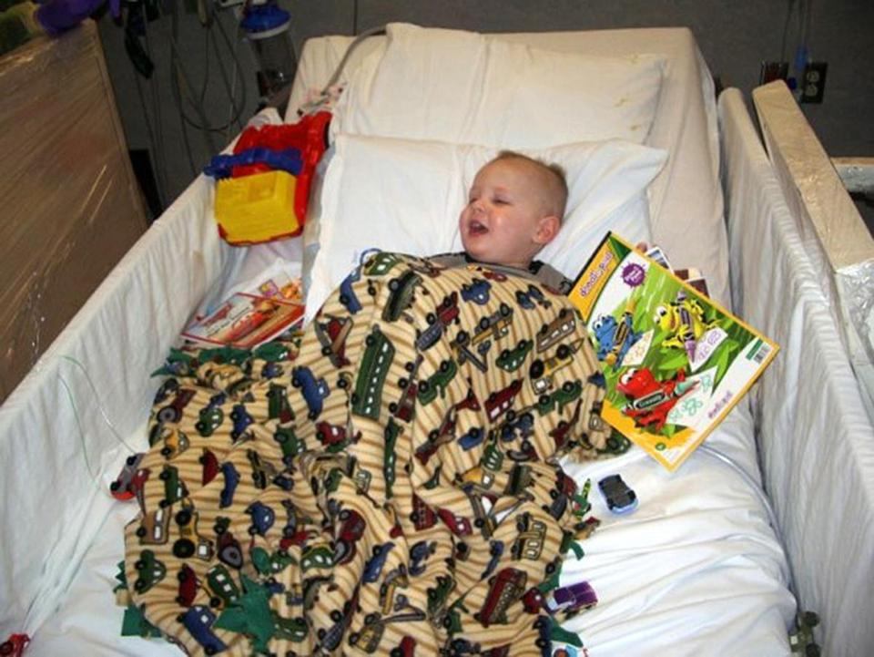 Another hospital stay --- : Will Lacey at the hospital. January 22, 2007. (Lacey family)