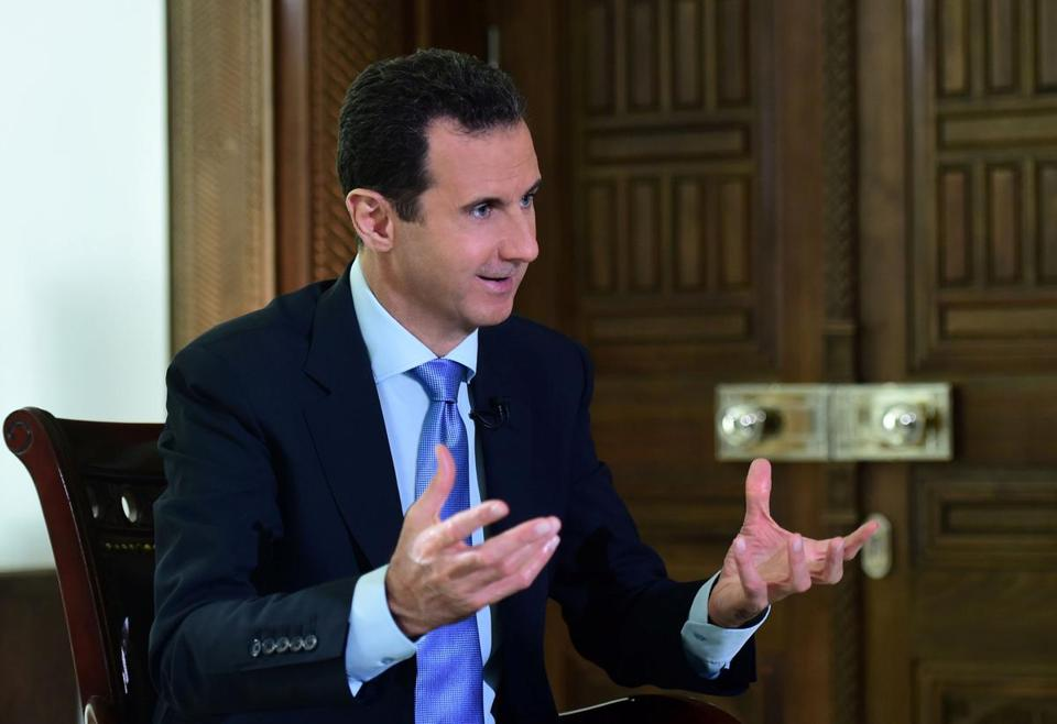 In an interview with the Portuguese broadcaster RTP published Tuesday, President Bashar Assad of Syria welcomed the prospect that Trump would make good on his campaign promise to focus exclusively on fighting the Islamic State.