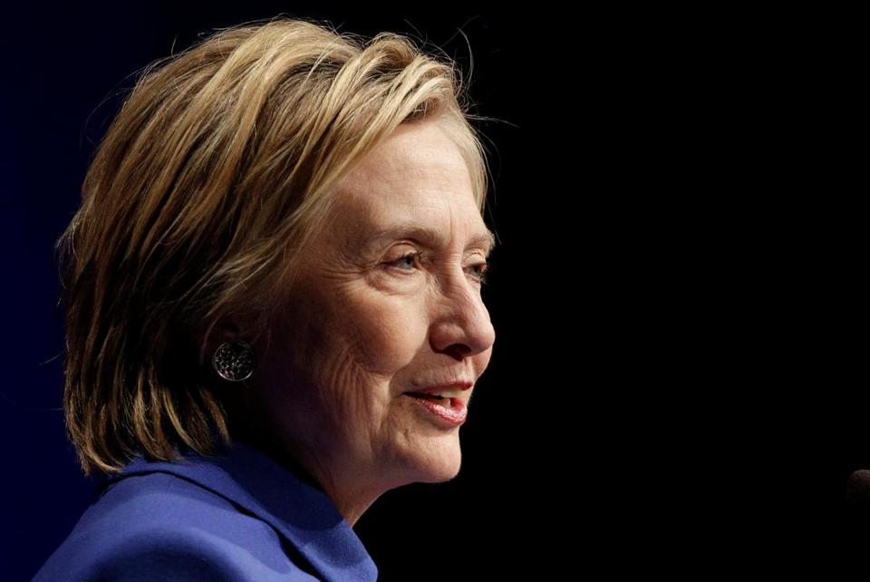 Hillary Clinton speaks to the Children's Defese Fund in Washington on Nov. 16.