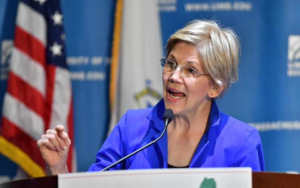 """This bill started out as a good idea and then it got hijacked,"" Warren said Wednesday in an interview with the Globe."