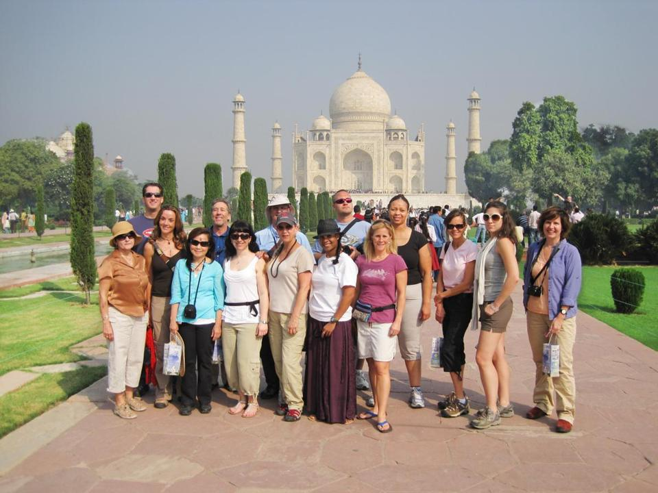 Global Expeditions Club travelers during their visit to India.
