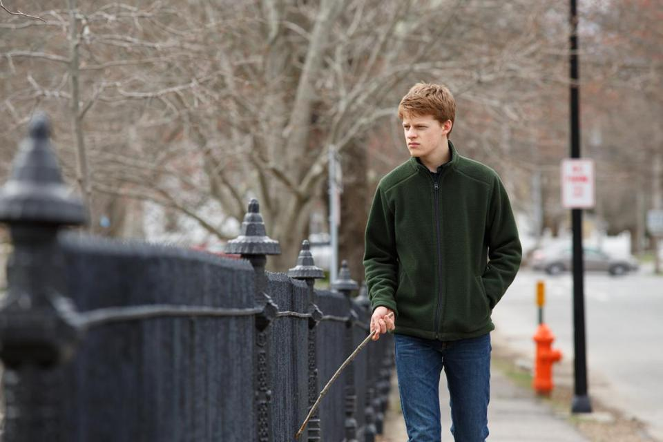 Lucas Hedges in the 2016 film MANCHESTER BY THE SEA, directed by Kenneth Lonergan. Photo credit: Claire Folger, Courtesy of Amazon Studios and Roadside Attractions
