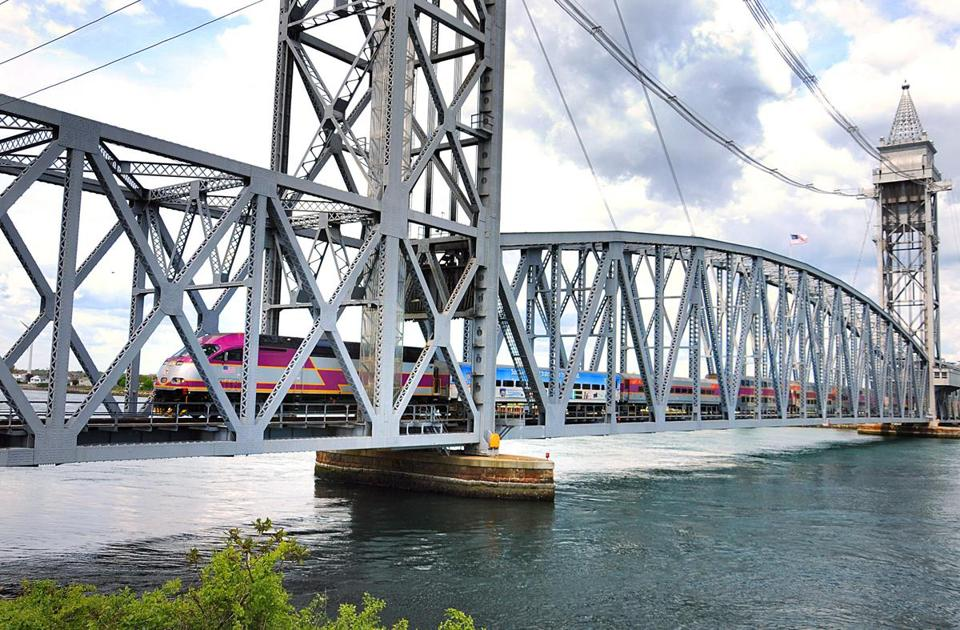 Good How To Get To Cape Cod Part - 6: Bourne 05-18-2013: The CapeFLYER Train Crosses Over The Cape Cod Canal