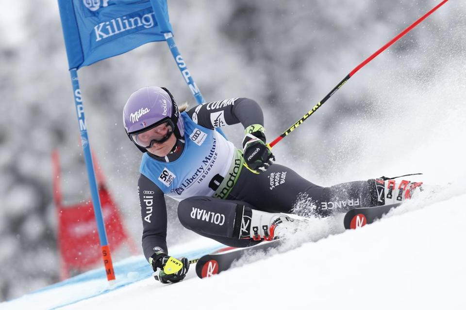KILLINGTON, VT - NOVEMBER 26: Tessa Worley of France competes during the Audi FIS Alpine Ski World Cup Women's Giant Slalom on November 26, 2016 in Killington, Vermont. (Photo by Alexis Boichard/Agence Zoom/Getty Images)