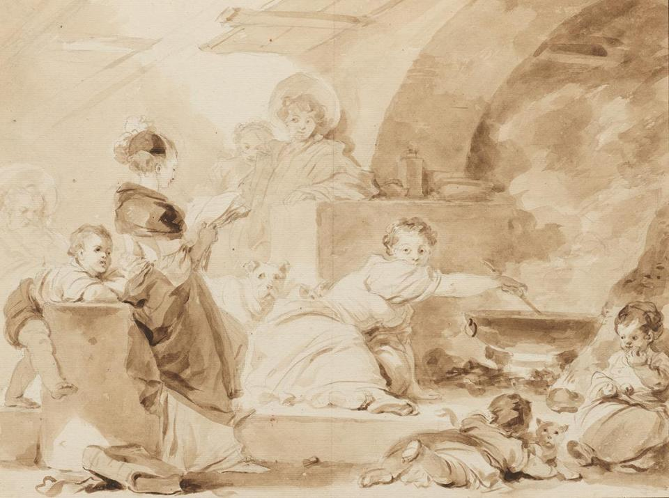 """Reading in the Kitchen"" is part of ""Fragonard: Drawing Triumphant."""