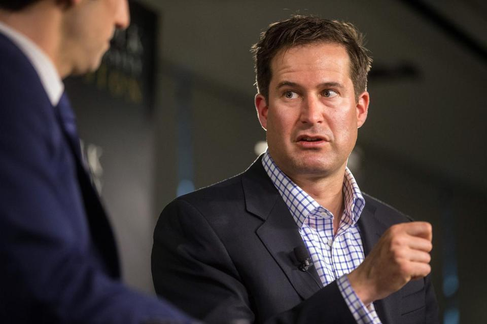US Representative Seth Moulton at a Boston Globe event earlier this year.
