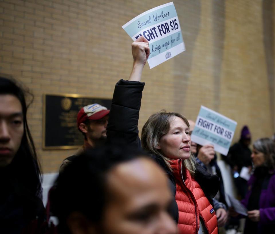 15 minimum wage push jobs out of mass survey says the 15 minimum wage push jobs out of mass survey says the boston globe