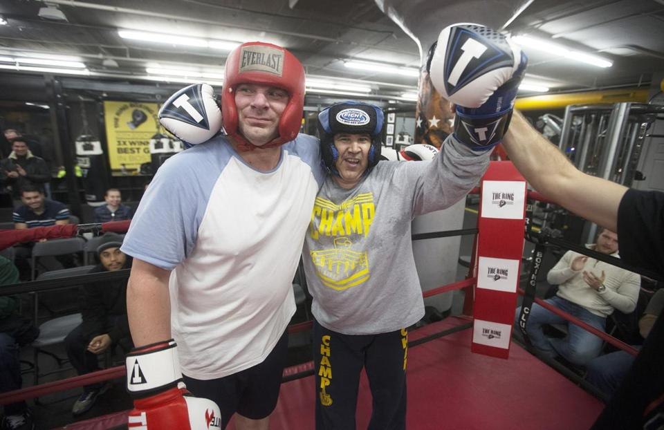 "Says Paul Murray (left), ""For him to get in the ring is impressive and inspirational."""