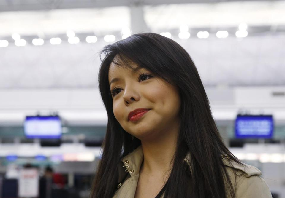 Canada's Miss World contestant Anastasia Lin spoke to the media in November of 2015 at Hong Kong's airport after she was denied entry to mainland China.