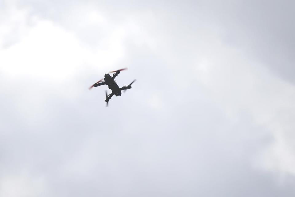 A drone flew through the air during a race in Berlin, Mass., last year.