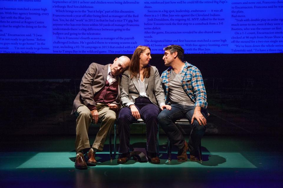 "From left: Joel Colodner, Veronika Duerr, and John Gregorio in ""Going to See the Kid."""