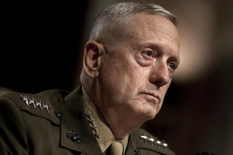 FILE � Gen. James Mattis at his confirmation hearing in front of the Senate Armed Services Committee in Washington, July 27, 2010. President-elect Donald Trump has chosen Mattis as his pick for secretary of defense. (Brendan Smialowski/The New York Times)