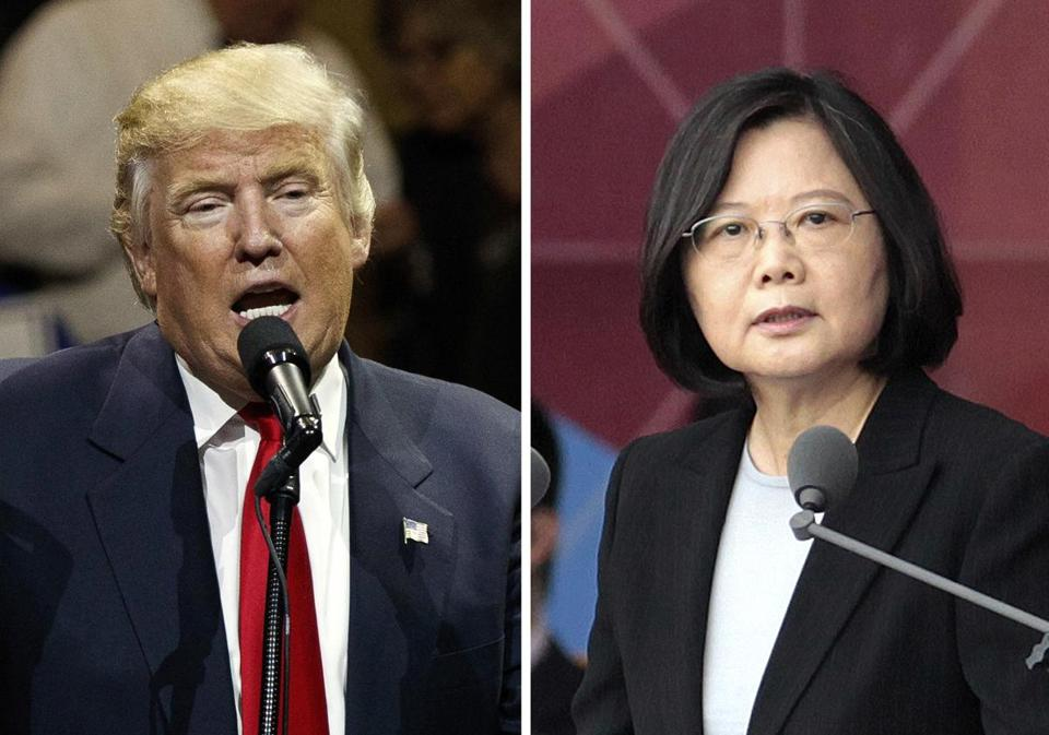 US President-elect Donald Trump and Taiwan's President Tsai Ing-wen.