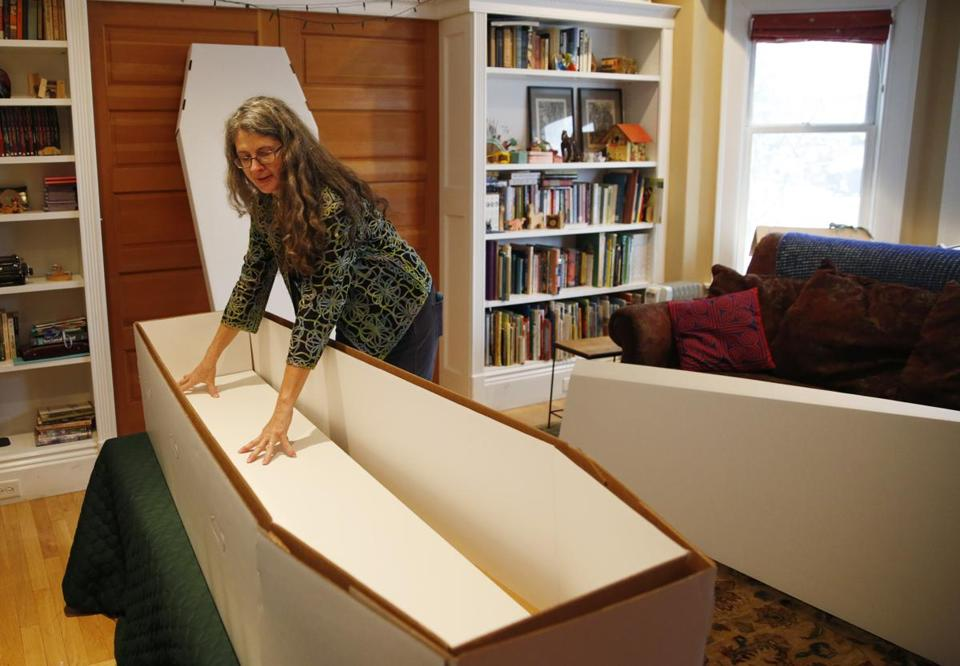 Ruth Faas creates caskets from green materials that help limit the environmental impact.