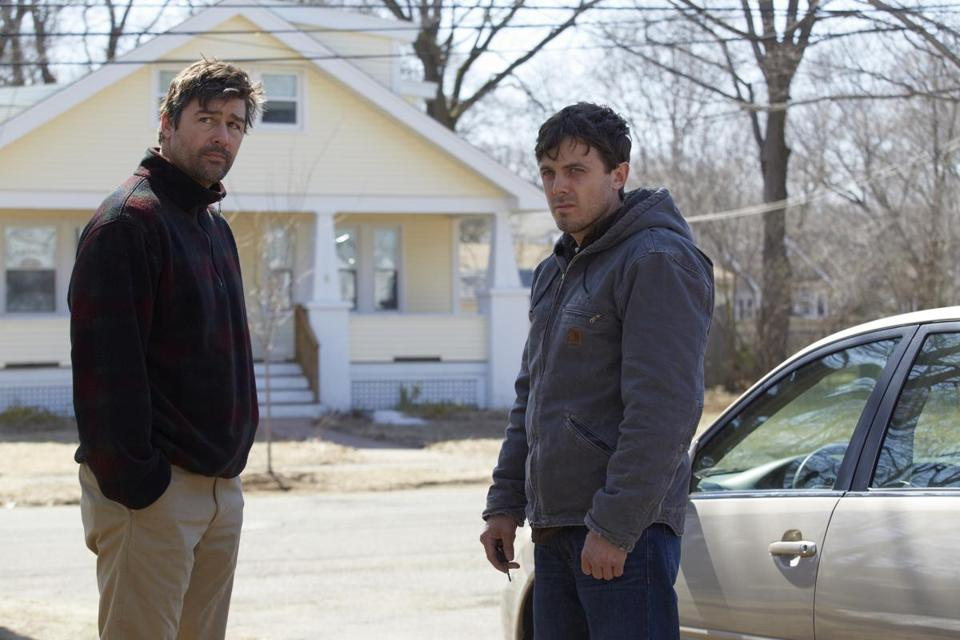 "Kyle Chandler (left) and Casey Affleck in ""Manchester by the Sea,"" which has been nominated for five Chlotrudis Awards by the Boston-based Chlotrudis Society."