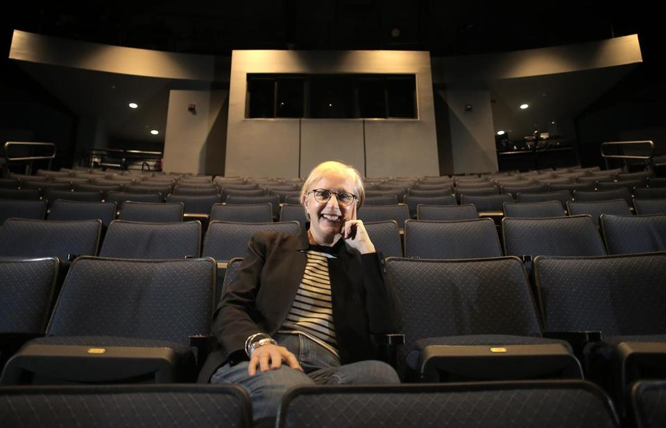 Peggy Ellertsen spearheaded a new assistive listening system at New Repertory Theatre.