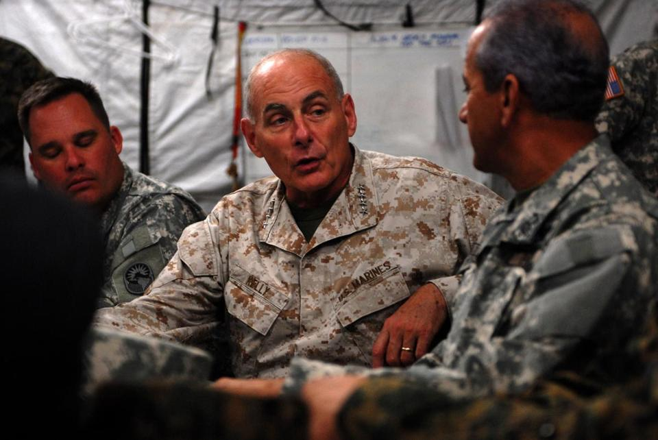 08kelly - U.S. Southern Command, Commander Gen. John F. Kelly briefs the media on the current state of USSOUTHCOM affairs, March 20, 2013. (Chad J. McNeeley/United States Southern Command)