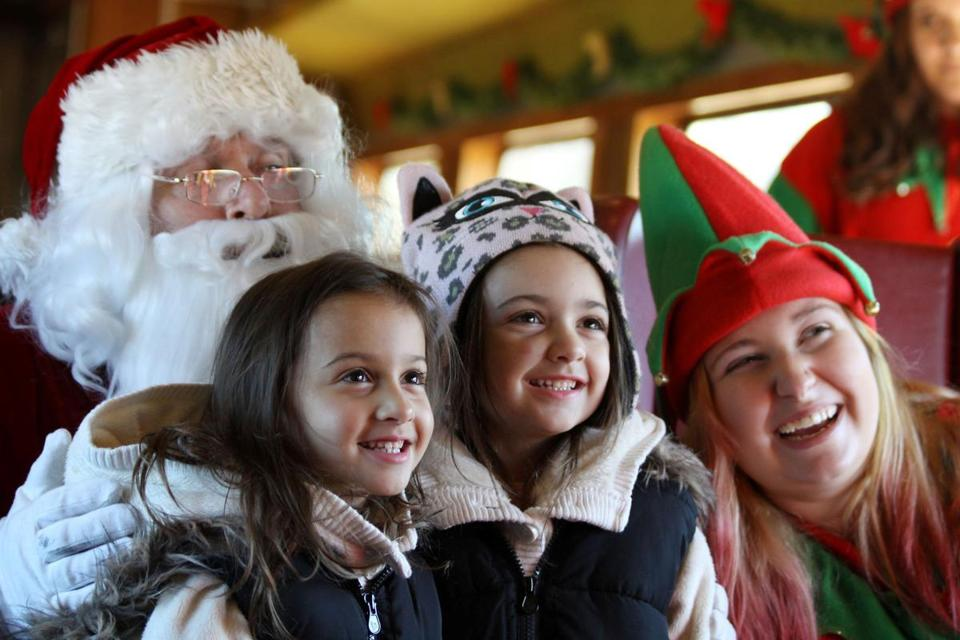 Spend some time with Santa on the old-fashioned Conway Scenic Railroad.