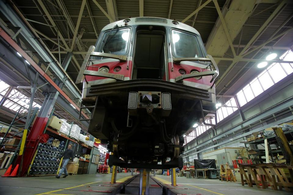 The deal means the MBTA will replace an group of Red Line cars (like the one above) received in the 1990s, instead of rehabilitating the vehicles.