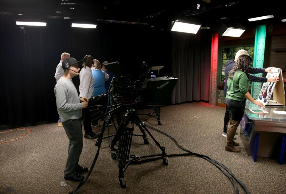 "Norwood Ma- 12/15//2016 Taping of ""Lead Update"" a public access TV show made by special education students at Norwood High School. Jonathan Wiggs /GlobeStaff) Reporter:Topic"