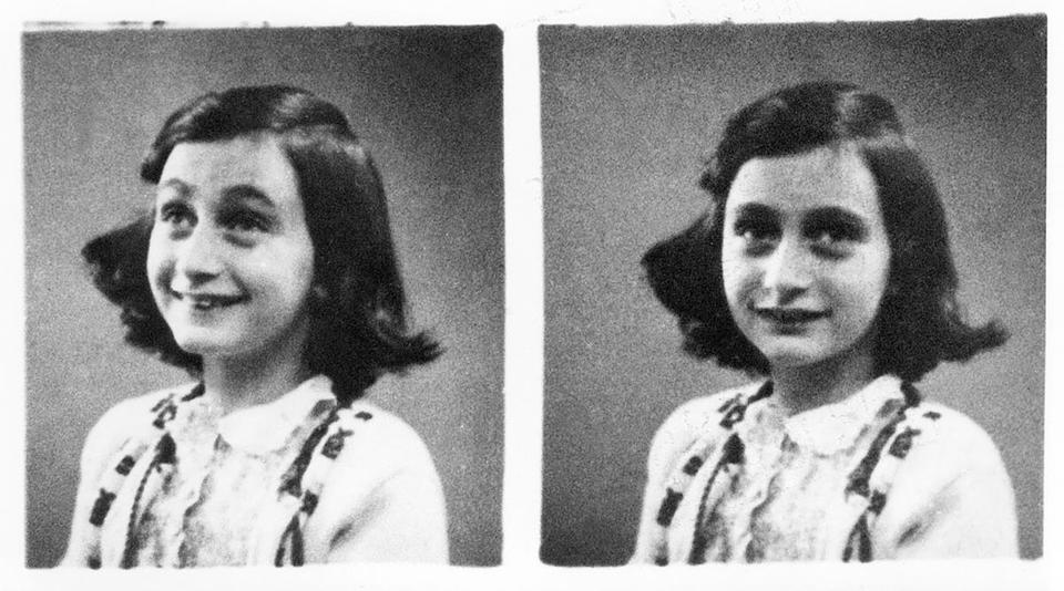 Anne Frank in 1942. The Jewish teenager died of typhus in the Bergen-Belsen concentration camp in May 1945 at the age of 15.