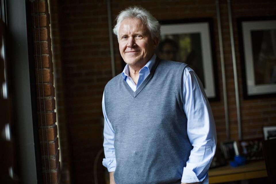 General Electric CEO Jeff Immelt posed for portrait in his office in Boston.