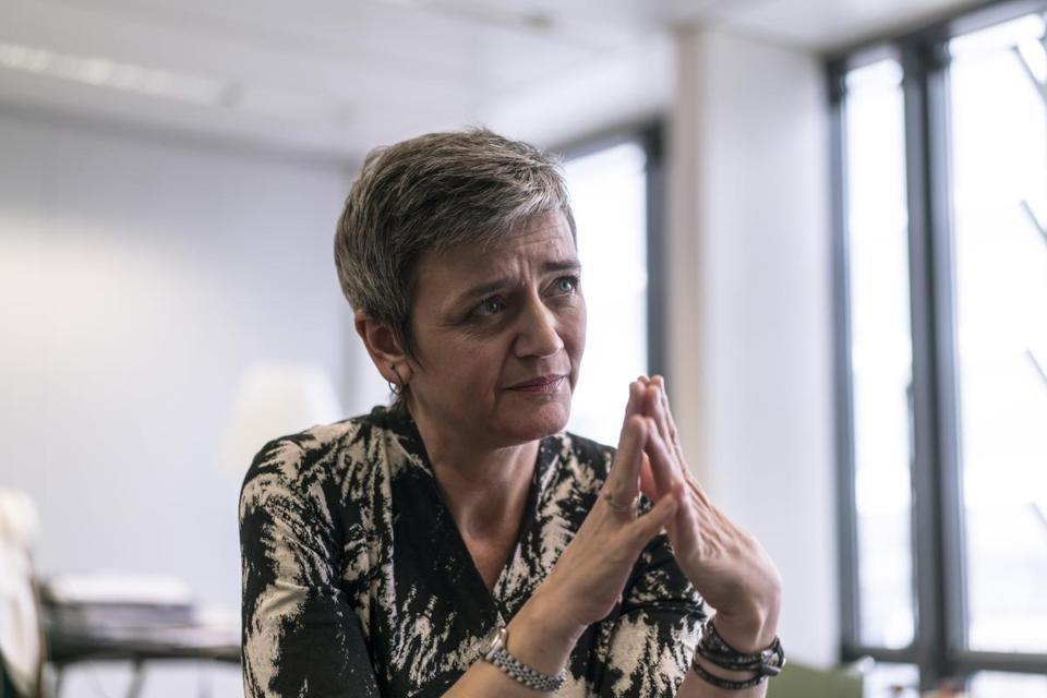 Margrethe Vestager, Europe's competition chief, said Facebook had misled regulators in 2014 when it bought WhatsApp for $19 billion.
