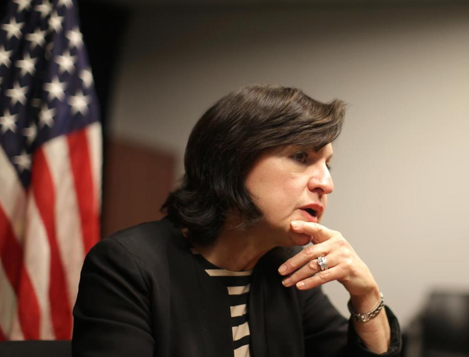 Boston Ma- 12/21//2016 United States Attorney for Massachusetts Carmen Ortiz (cq) is stepping down. She was giving interviews to local media. Jonathan Wiggs /GlobeStaff) Reporter:Topic
