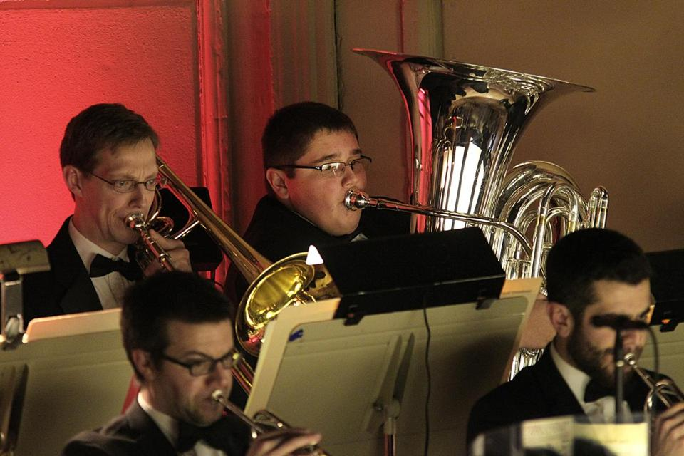 Boston, MA., 12/23/16, Rya McAvoy plays the tuba with the The Boston Pops. The Boston Pops and conductor Keith Lockhart have teamed up with Make-A-Wish Massachusetts and Rhode Island to fulfill 15-year-old Ryan McAvoy's wish to perform on stage with the orchestra. Suzanne Kreiter/Globe staff)