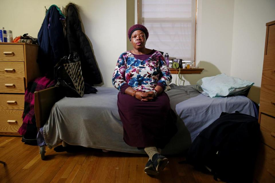 This Christmas marked the third stay at Rosie's Place for Angela J., who was evicted from her home in 2014.