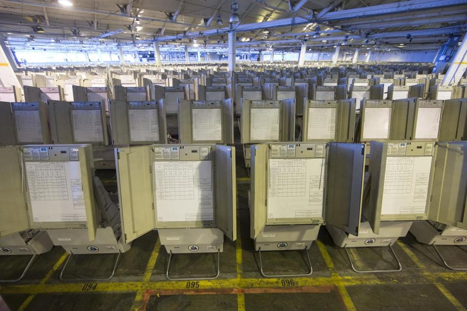 Image result for photos of antiquated electronic voting machines in Philly