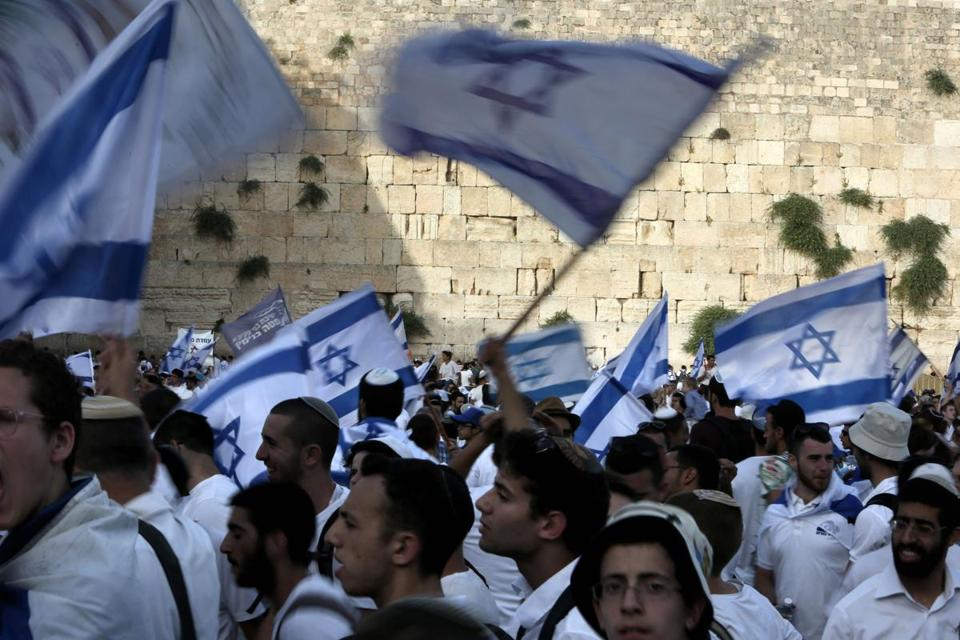Israelis gathered at the Western Wall in Jerusalem's old city on June 5 to celebrate the Jerusalem Day, which marks Israel's 1967 seizure of the Palestinian-dominated eastern half of Jerusalem.