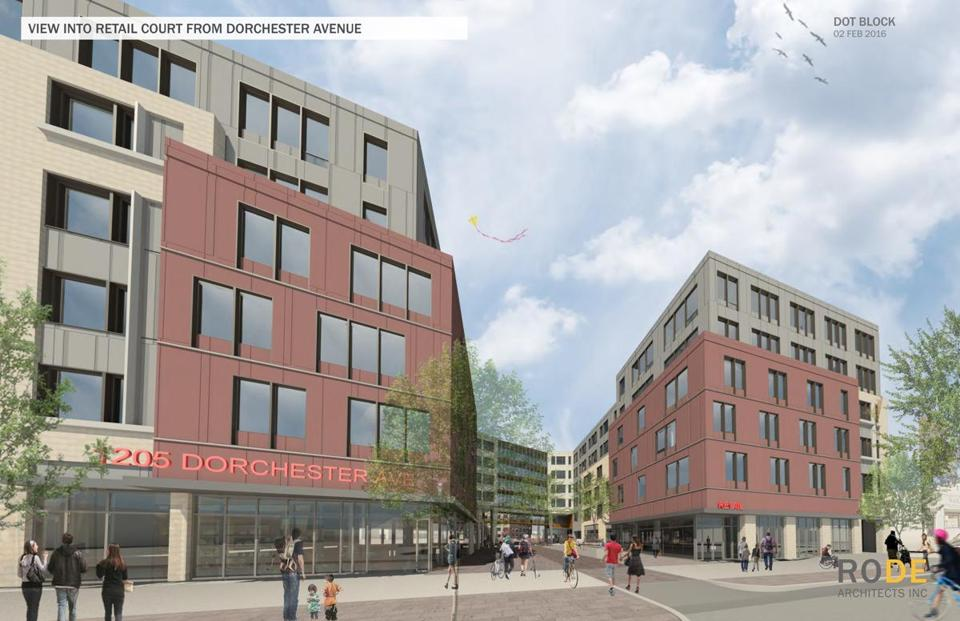 Developers say the Dot Block complex planned for Dorchester Avenue is the first of a series of projects to remake the area.